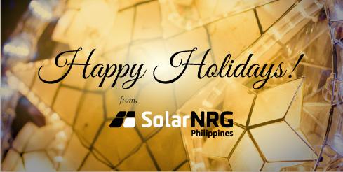 Happy Holidays from SolarNRG Philippines!